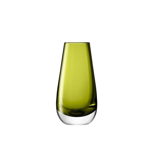 英國LSA 艷彩透底玻璃花器 橄欖綠