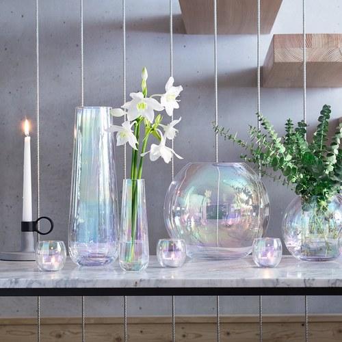 英國LSA 貝殼絢彩水滴弧底花器
