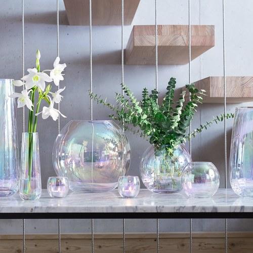 英國LSA 貝殼絢彩球形花瓶