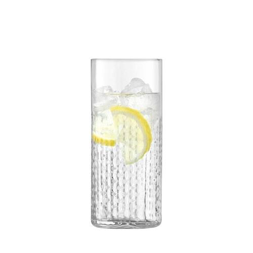 英國LSA 編織摺紋玻璃酒杯2入組 (透明、400毫升)
