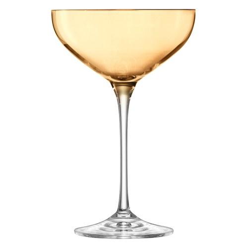 英國LSA  霓彩四色香檳淺碟杯4入組 (茶棕)