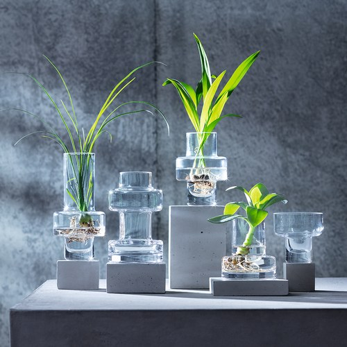 英國LSA  積木城市玻璃花器5入組