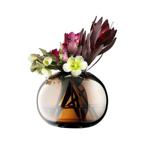 英國LSA 爵士時代炫彩球型花器 (琥珀、高13.5公分)