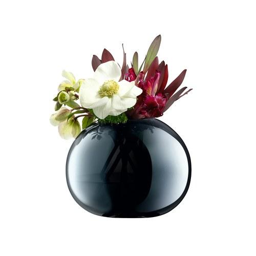 英國LSA 爵士時代炫彩球型花器 (寶藍、高13.5公分)