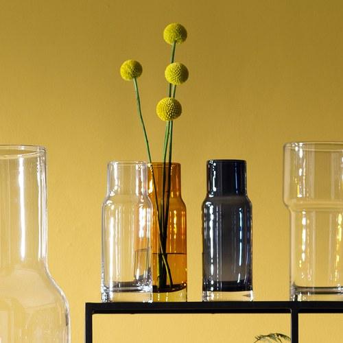 英國LSA 風格高低差花器 (橘、高19公分)