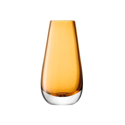 英國LSA 艷彩透底玻璃花器 (橘)