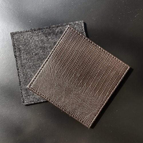 比利時Dome Deco 扣件綁帶方型杯墊(五片)