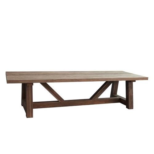 比利時Sempre V字桁架柚木戶外桌