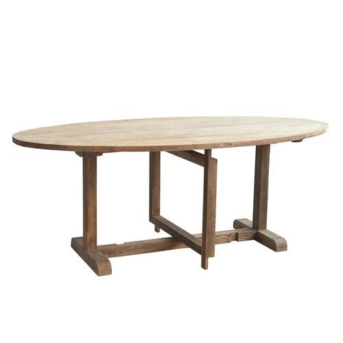 比利時Sempre 雙框桁架橢圓柚木戶外桌