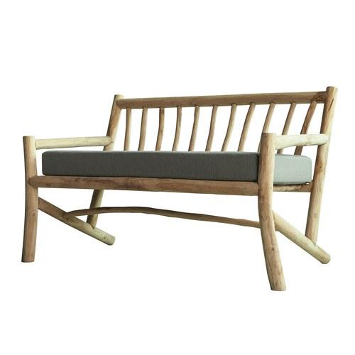 比利時Sempre 原木雙人休憩長椅
