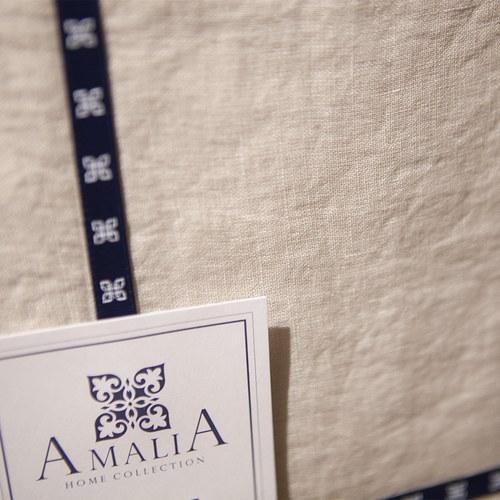 葡萄牙Amalia 亞麻米色床包 ( 雙人標準、Coracao )