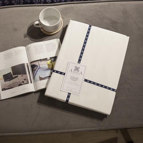葡萄牙Amalia 埃及棉白色床包 ( 雙人標準、Especiarias 紫 )