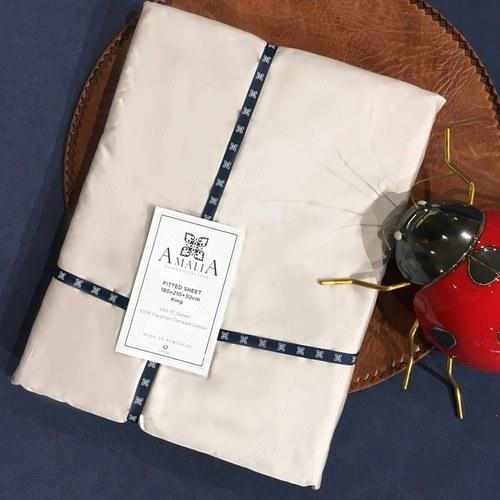葡萄牙Amalia 埃及棉白色床包 ( 雙人特大、FIAPO 灰 )