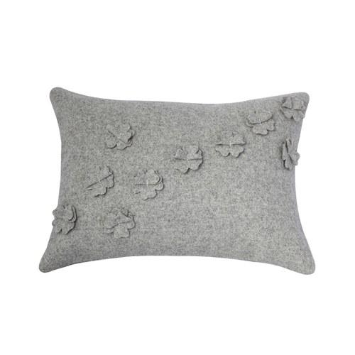 葡萄牙BUREL 四葉草羊毛抱枕 (灰)