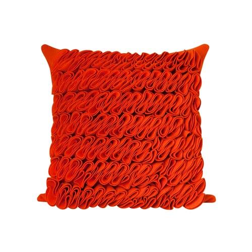 葡萄牙BUREL 華麗海草皺褶方形抱枕 (橘)