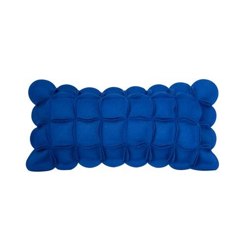 葡萄牙BUREL 花瓣裝飾邊抱枕 (藍)