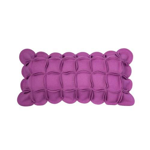 葡萄牙BUREL 花瓣裝飾邊抱枕 (紫)