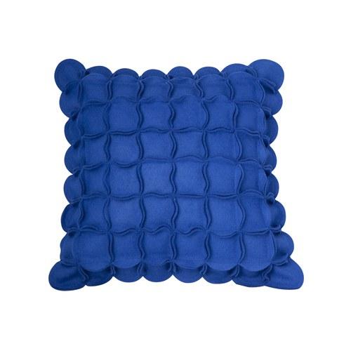 葡萄牙BUREL 花瓣裝飾邊方形抱枕 (藍)