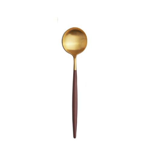 葡萄牙Cutipol 頂級GOA主餐匙 (棕x霧金)