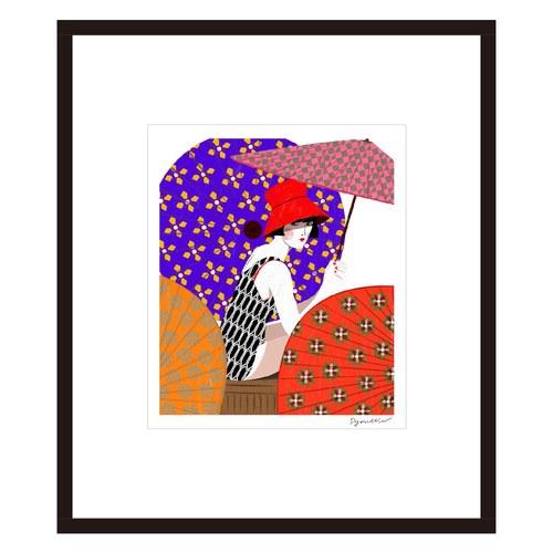 葡萄牙Mambo藝術繪畫 傘下的女孩