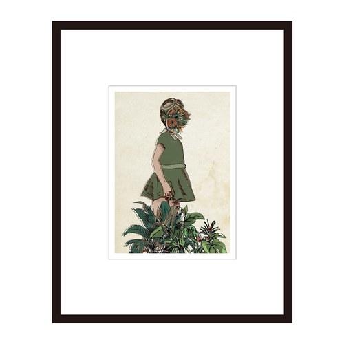 葡萄牙Mambo藝術繪畫 女孩與植物