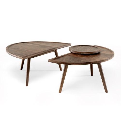 葡萄牙WEWOOD 半圓雙拼邊桌 (核桃木)