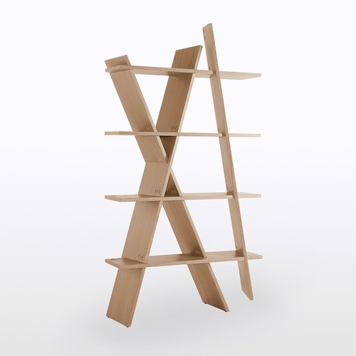 葡萄牙WEWOOD X造型邊架 (橡木)