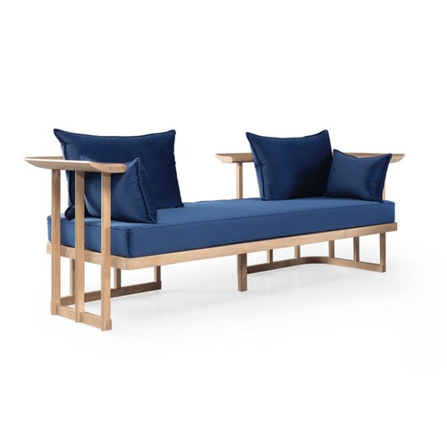 葡萄牙WEWOOD 多結構木質雙人沙發 (藍)