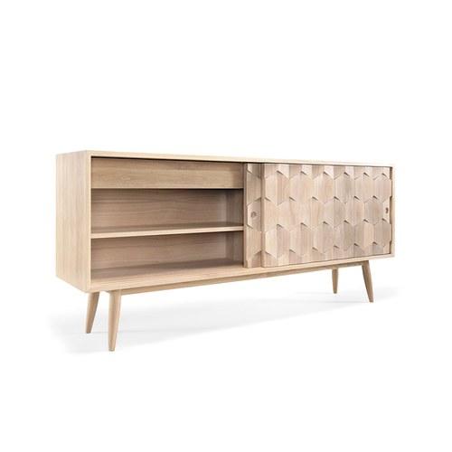 葡萄牙WEWOOD 六角拼紋木櫃 (橡木)