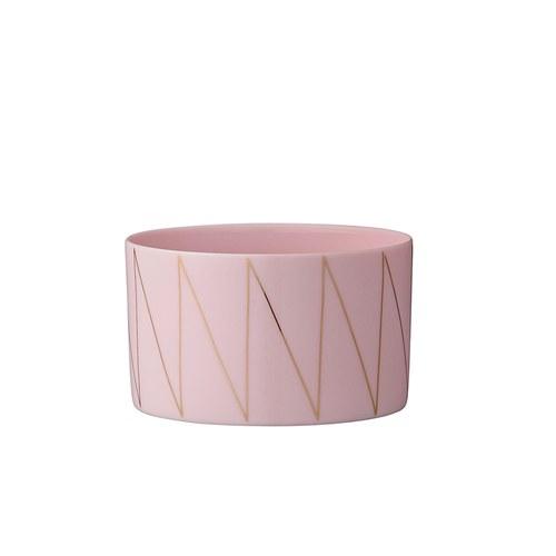 丹麥Bloomingville 金絲菱紋粉紅花器