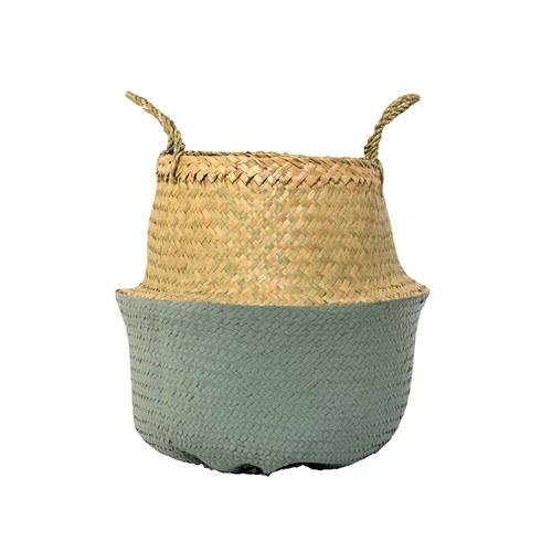 丹麥Bloomingville 海草編織籃 (綠、直徑35公分)