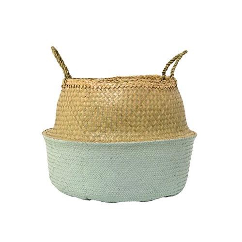 丹麥Bloomingville 海草編織籃 (綠、直徑55公分)