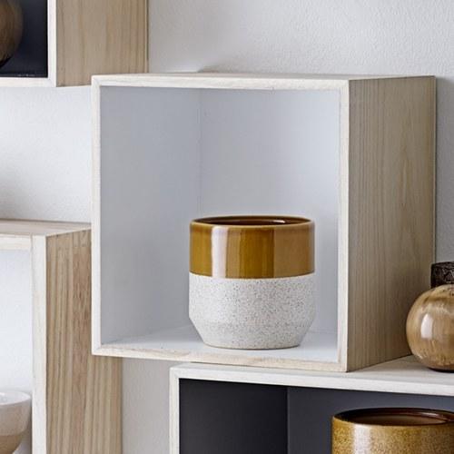 丹麥Bloomingville 陶製雙色花器