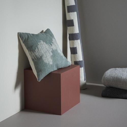 丹麥Hubsch 清新湖光方型靠枕