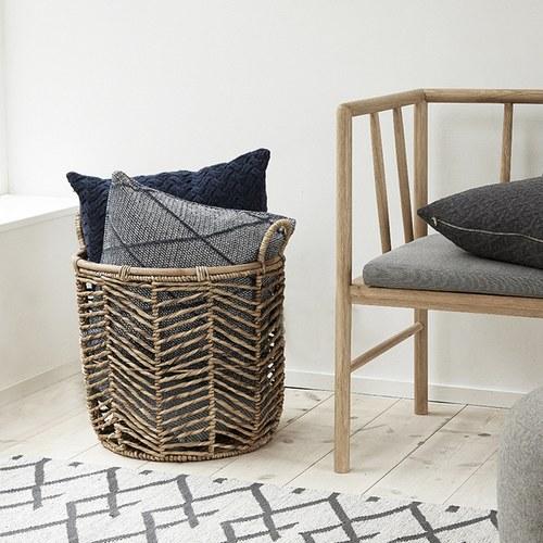 丹麥Hubsch 格林方型靠枕 (灰)