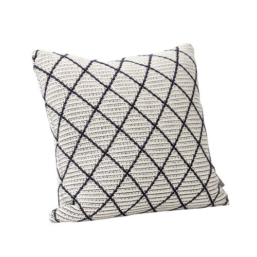 丹麥Hubsch 格林方型靠枕 (白)