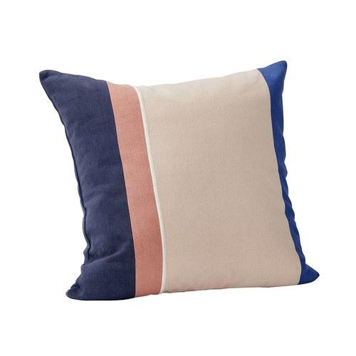 丹麥Hubsch 藝術拼色方型靠枕
