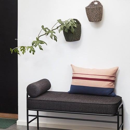 丹麥Hubsch 藝術拼色長型靠枕