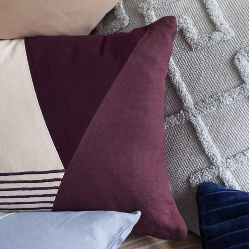 丹麥Hubsch 微醺酒紅長型靠枕