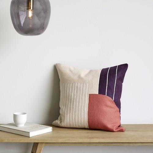 丹麥Hubsch 拼貼風方型靠枕