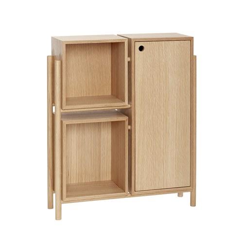 丹麥Hubsch 小屋積木收納邊櫃