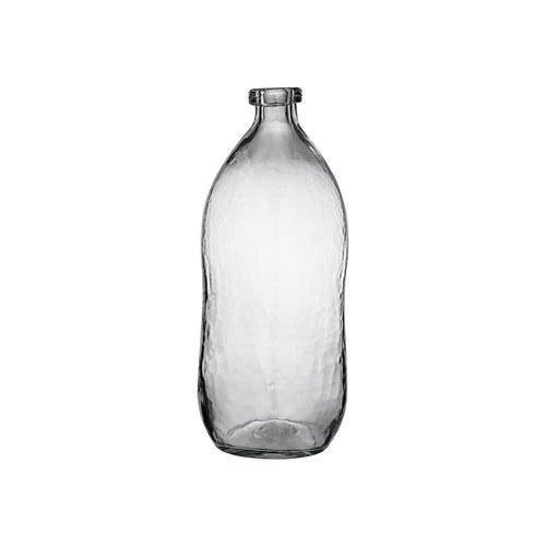丹麥LeneBjerre 淺灰霧玻璃花器 (直徑16公分)