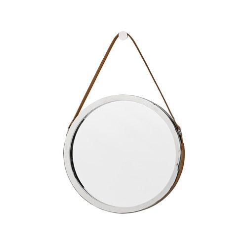 丹麥LeneBjerre 銀色圓形掛鏡