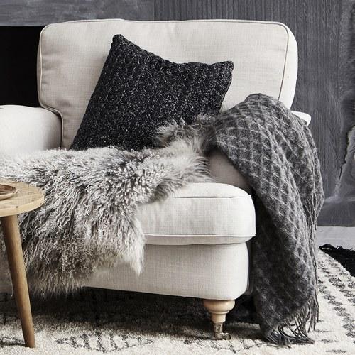 丹麥LeneBjerre 毛邊格紋薄毯