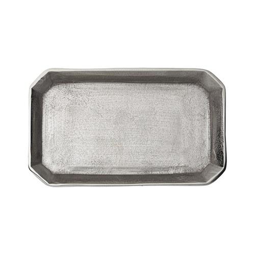 丹麥LeneBjerre 砂紋長形托盤 (銀、長30公分)