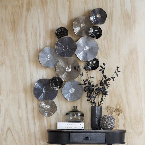 丹麥Lene Bjerre 荷葉藝術金屬壁飾 (灰褐)