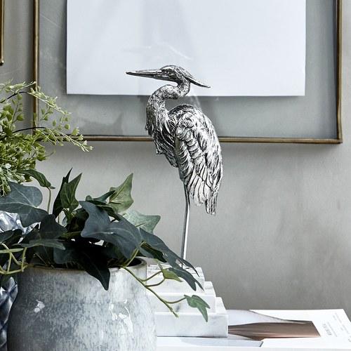 丹麥Lene Bjerre 白鷺藝術擺飾雕塑 (銀)