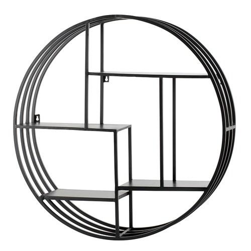 丹麥Lene Bjerre 金屬切割圓形壁掛層架