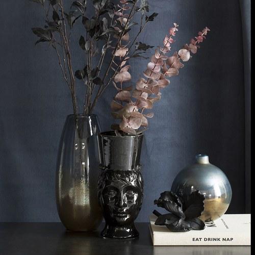 丹麥Lene Bjerre 蘭花藝術擺飾雕塑 (黑)