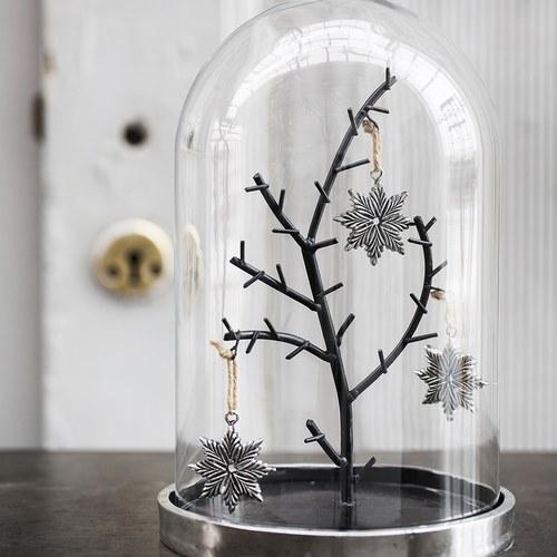 丹麥LeneBjerre 聖誕景色玻璃罩擺飾